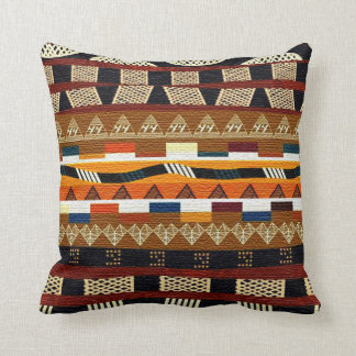 African Tribal Graphic Throw Pillow