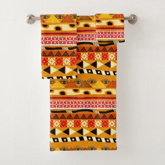 African Tribal Pattern Bath Towel Set