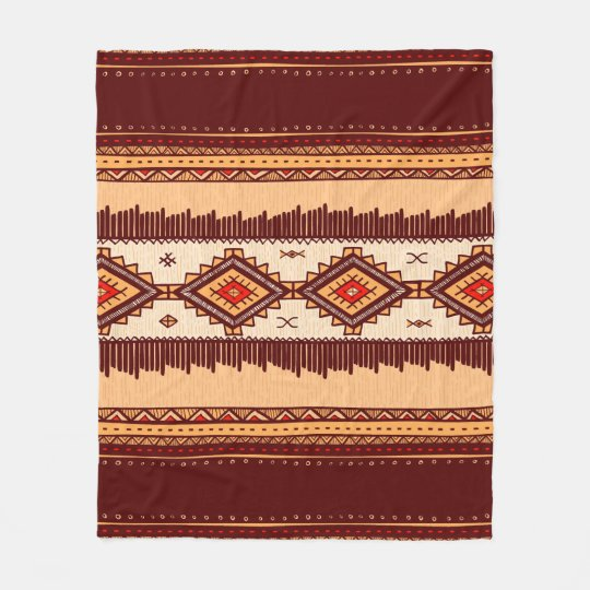 African Tribal pattern home decor blanket