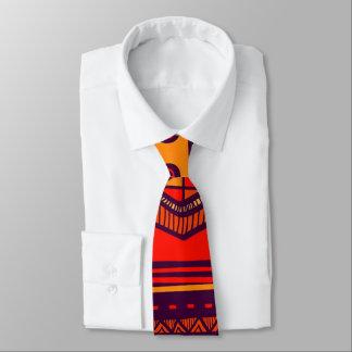 African Tribal pattern mens tie