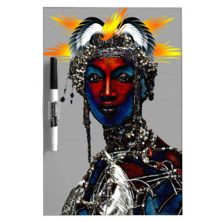 African Tribal Queen Dry Erase Board