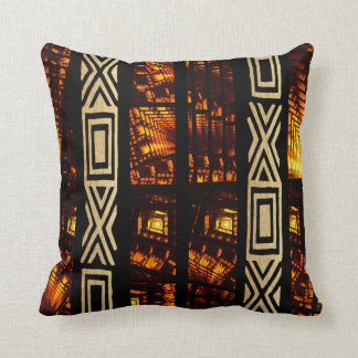African Tribal Tapestry Motif Throw Pillow