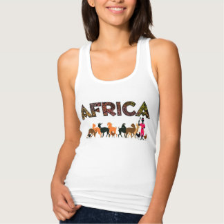 African Tribal Villagers tank top