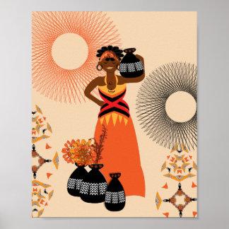African Tribal Woman Print
