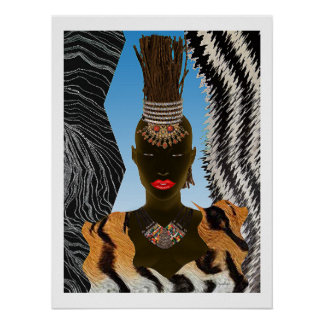 African Twigs For Hair Poster