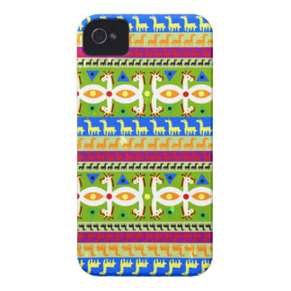 African Unicorn pattern iPhone 4 Case-Mate Cases