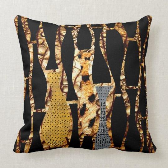 African Vase Design Throw Pillow