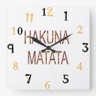 African Vintage Colors Hakuna Matata gift large Wallclocks