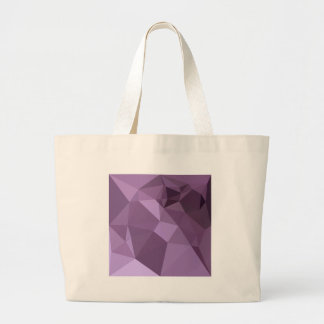 African Violet Abstract Low Polygon Background Large Tote Bag