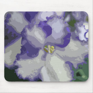 African Violet Abstract Mousepad