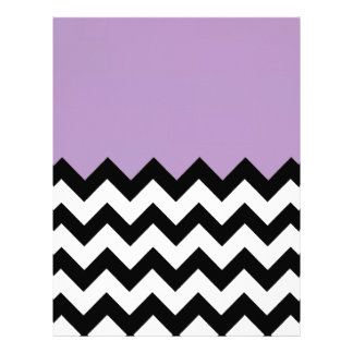 African-Violet-And-Black-&-White-Zigzag-Pattern Custom Letterhead