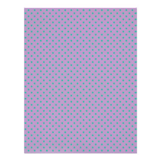 African Violet And Emerald Green Small Polka Dots Personalized Letterhead