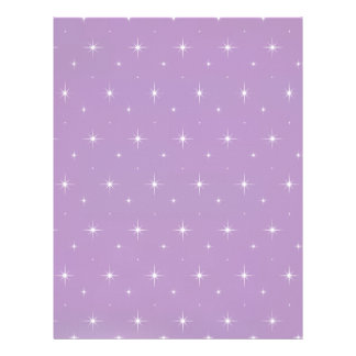 African Violet And Shining Stars Elegant Pattern Letterhead