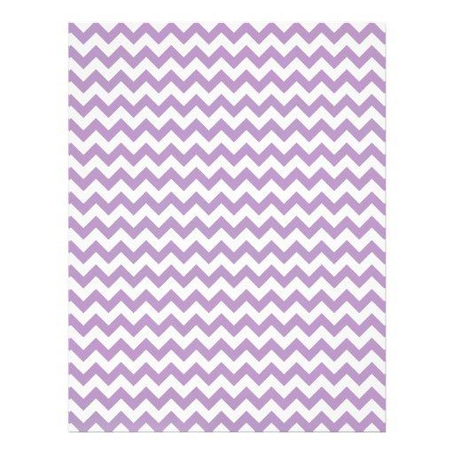 African-Violet-And-White Chevron Custom Letterhead
