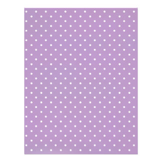 African-Violet-And-White-Polka-Dots-Pattern Customized Letterhead