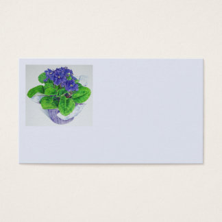 African Violet Business Card