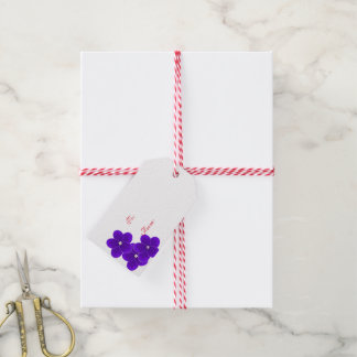 African Violet Christmas Gift Tag