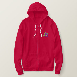 African Violet Embroidered Hoodie