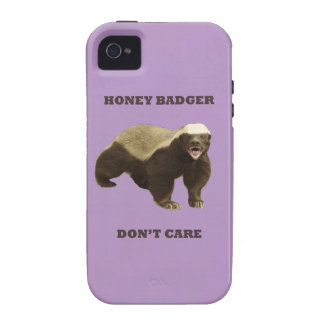 African Violet Honey Badger Dont Care iPhone 4/4S Cover