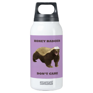 African Violet Honey Badger Dont Care 10 Oz Insulated SIGG Thermos Water Bottle