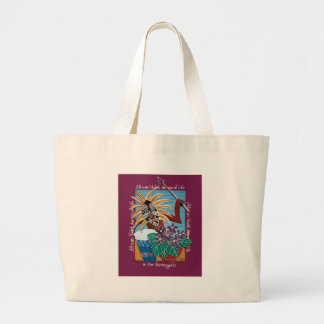African Violet in Serengetti Large Tote Bag