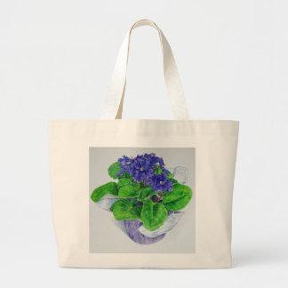 African Violet Large Tote Bag