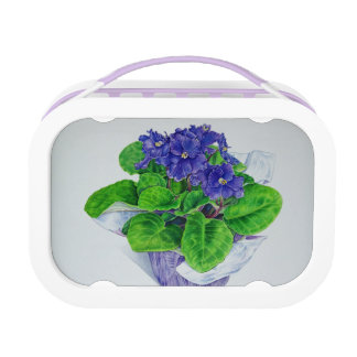African Violet Lunch Box