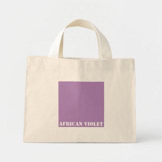 African violet mini tote bag