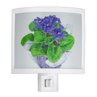 African Violet Night Light