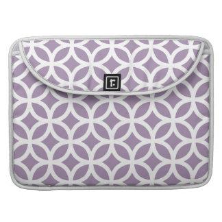 African Violet Purple Geometric MacBook Pro Sleeves