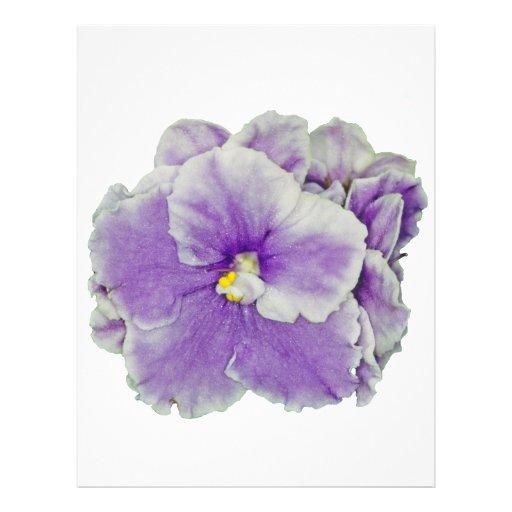African Violet Purple Letterhead Design