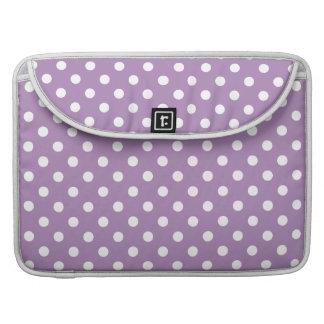 African Violet Purple Polka Dot Pattern MacBook Pro Sleeve