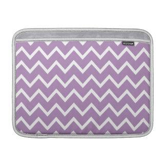 African Violet Purple Zig Zag Chevron Sleeves For MacBook Air