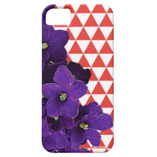 African Violet Red Pyramids Phone Cover
