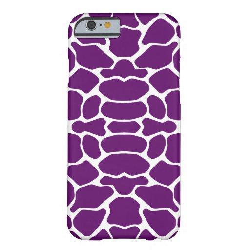 African Violet Safari Giraffe iPhone 6 Case