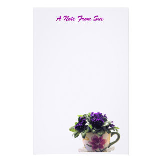 African Violet Stationnery Stationery