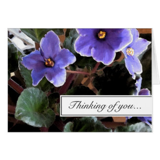 African Violet Thinking of You Greeting Card