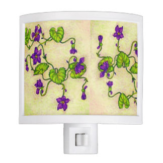 African Violets Night Light by Sonya Ambrose