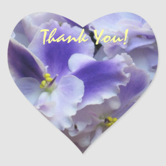 African Violets Thank You Sticker