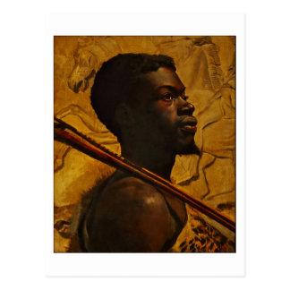 African Warrior by Boyd Postcard