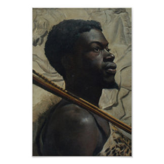 African Warrior by Walter Scott Boyd Poster