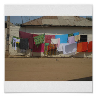 African Washing Line Poster