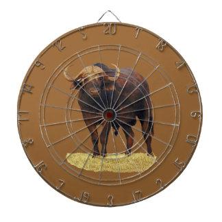 African Water Buffalo Dartboard With Darts