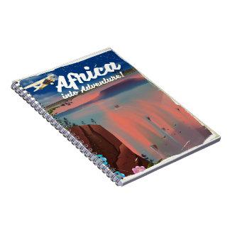 African Waterfall Adventure poster Spiral Notebook