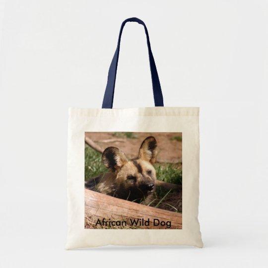 African Wild Dog-012, African Wild Dog Tote Bag