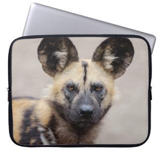 African wild dog laptop sleeve