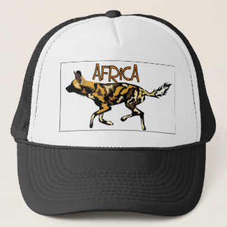 African Wild Dog Safari Cap