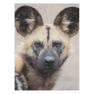 African wild dog tablecloth