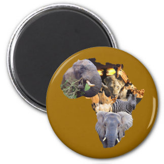 African Wildlife Continent Magnet