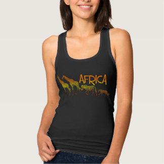 African wildlife tank top